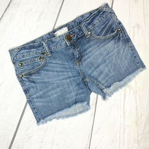 Free People Cut Off Shorts with Frayed Hem